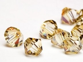 Bicone 4 mm Crystal Golden shadow.(001gsha) 144 stuks.