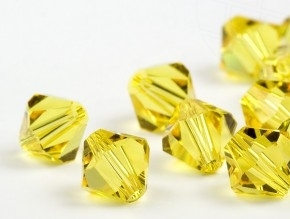 Bicone 4 mm Light topaz.(226) 144 stuks.