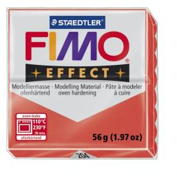 Fimo effect transparant rood nr. 204.