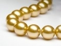 Swarovski parel 8mm Bright Gold pearl. 25 stuks.