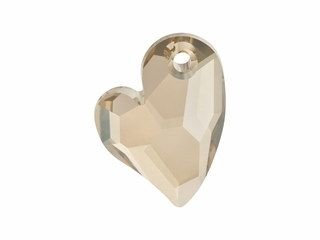 Swarovski hart 6261. Crystal golden shadow.