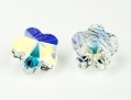 Swarovski flower bead crystal ab. 8 mm.