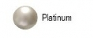 Swarovski parel 3mm Platinum pearl. 25 stuks.